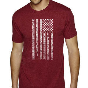 Premium Blend Word Art Tshirt National Anthem Flag